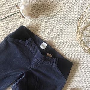 Old Navy Slate Velvet Maternity Pixie Pants